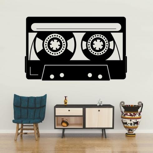 Retro audio kazeta - vinylová samolepka na zeď