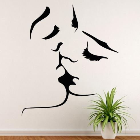Polibek láska - vinylová samolepka na zeď