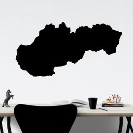 Mapa Slovensko - vinylová samolepka na zeď