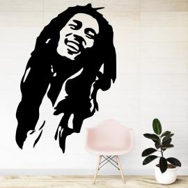 Bob Marley silueta - vinylová samolepka na zeď