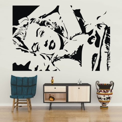 Marilyn Monroe - vinylová samolepka na zeď