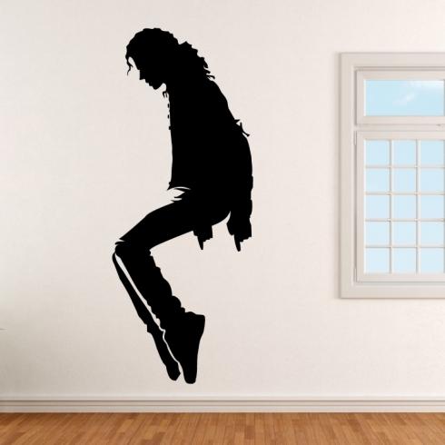 Michael Jackson na špičkách - vinylová samolepka na zeď