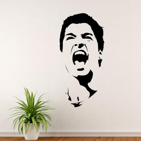 Suárez Díaz fotbalista - vinylová samolepka na zeď