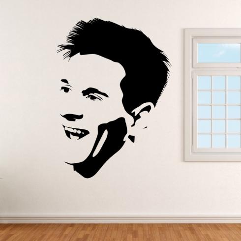 Lionel Messi fotbalista - vinylová samolepka na zeď