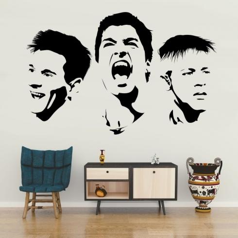 Messi Suárez a Neymar - vinylová samolepka na zeď