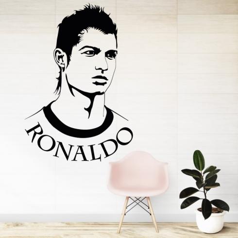 Cristiano Ronaldo portrét - vinylová samolepka na zeď