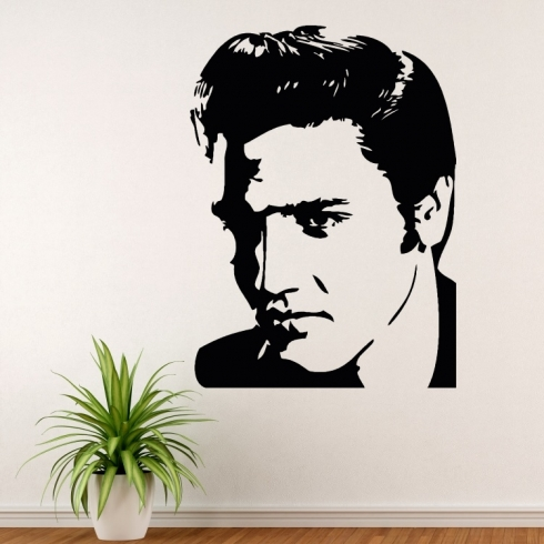 Elvis Presley portrét - vinylová samolepka na zeď