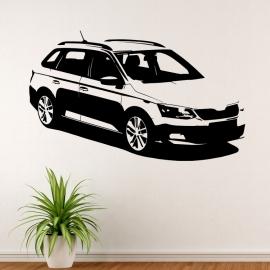 Škoda Fabia kombi - vinylová samolepka na zeď