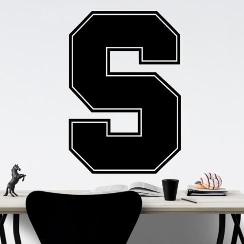 Sparťanské hokejové S - vinylová samolepka na zeď
