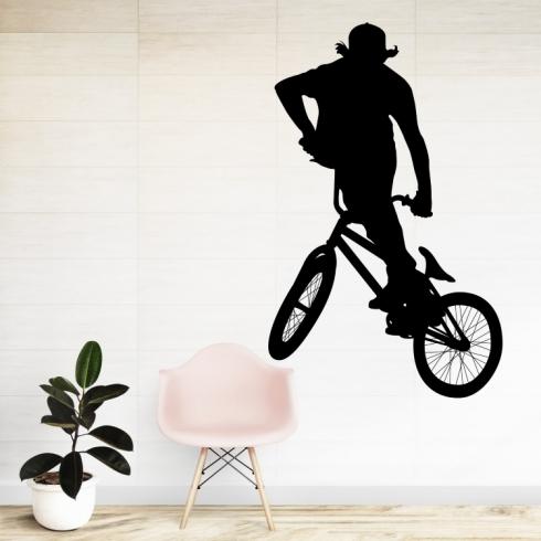 BMX free raider - vinylová samolepka na zeď