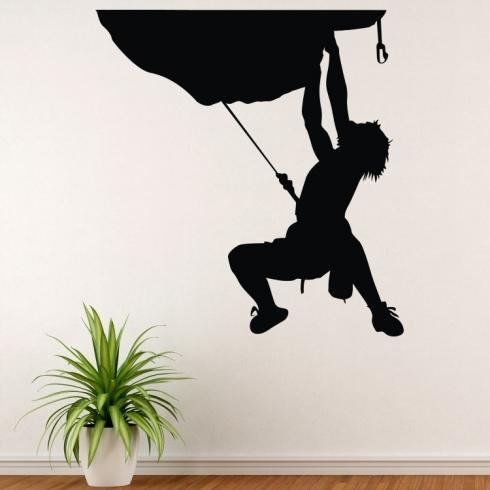 Horolezec na převisu - vinylová samolepka na zeď