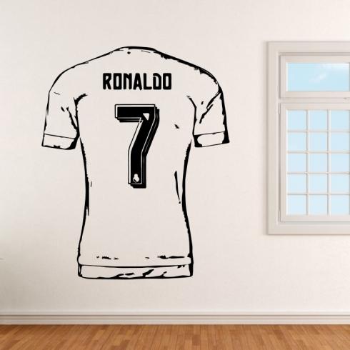 Fotbalový dres Ronaldo 7 - vinylová samolepka na zeď