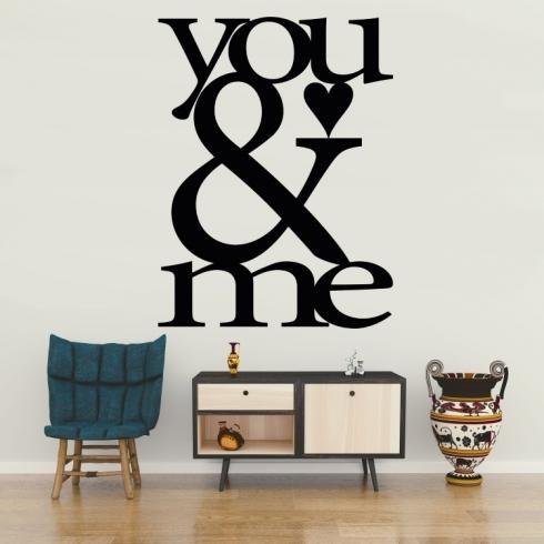 You and me - vinylová samolepka na zeď