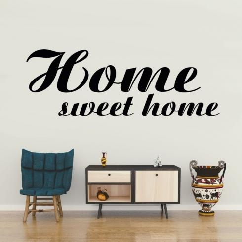 Home sweet home - vinylová samolepka na zeď