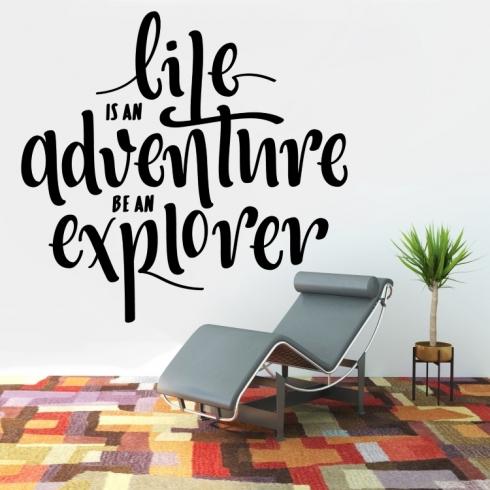 Life is adventure - vinylová samolepka na zeď