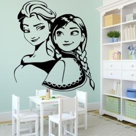 Elza a Anna Frozen - vinylová samolepka na zeď