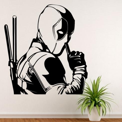 Deadpool pst - vinylová samolepka na zeď