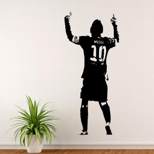 Lionel Messi silueta - vinylová samolepka na zeď
