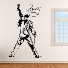 Freddie Mercury Queen s podpisem - vinylová samolepka na zeď