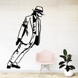 Michael Jackson silueta - vinylová samolepka na zeď
