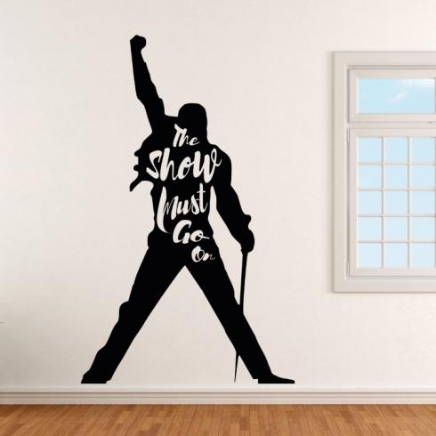 Queen Mercury Show must go on - vinylová samolepka na zeď