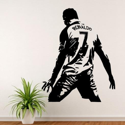 Cristiano Ronaldo slavící gól - vinylová samolepka na zeď