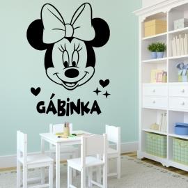Mickey Mausová s vaším textem - vinylová samolepka na zeď